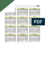 Calendário Permanente (1900~2050)