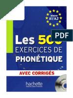 500 Exercices de Phonetique
