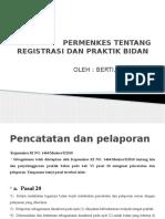 Pp Permenkes Tentang Registrasi Dan Praktik Bidan