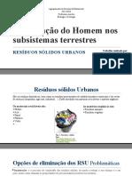 Intervenção Do Homem Nos Subsistemas Terrestres 1