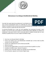 OneWorld Instructions