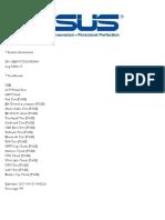 Asus Test Report