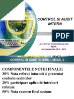 Control Si Audit Intern - Curs 1