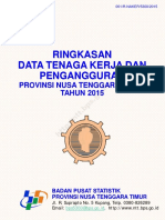 Ringkasan Data Tenaga Kerja Dan Pengangguran Provinsi Nusa Tenggara Timur Tahun 2015