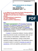 6. Managing Human Resources in Project PM0004 Sem-3