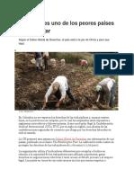 Colombia Es Uno de Los Peores Países Para Trabajar