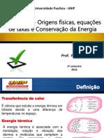 (2) Introdução - Origens Físicas, Equações de Taxas e Conservação Da Energia