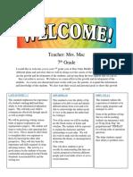 class newsletter assignmentsurvey class