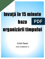 Invata in 15 Minute Baza Organizarii Timpului - Cristi Pavel