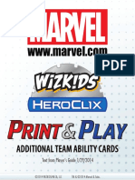 Marvel Additional Team Abilities