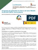 Portal de Educación de La Junta de Castilla y León - Programa de Gratuidad de Libros de Texto RELEO PLUS 2017_2018