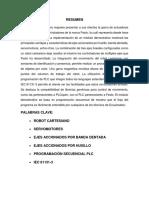 Resumen Tesis Robot Cartesiano FESTO