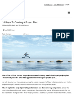 Project Management | 10 Steps to Creating a Project Plan copy
