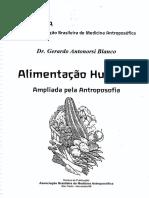 Alimentação Humana Ampliada Pela Antroposofia - Gerardo Antonorsi Blanco