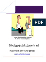 Critical Appraisal for Diagnostic Testing