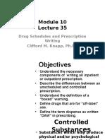 Drug Schedules