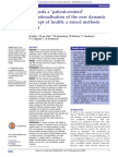 Patient-centred Operationalisation of the New Dynamic Concept of Health – Huber (2016)