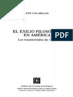 Abellan Jose Luis - El Exilio Filosofico en America - Los Transterrados de 1939