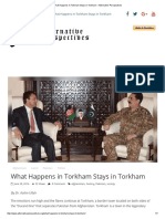 What Happens in Torkham Stays in Torkham – Alternative Perspectives
