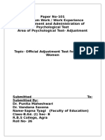 Official Adjustment Questionnaire 01