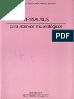 THESAURUS Para Acervos Museologico - Serie Tecnica - Vol.2