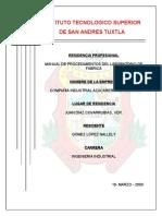 Manual de Procedimientos Del Laboratorio de Fabrica