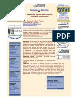 La Reforma Agraria en Colombia Una Tarea Inconclusa