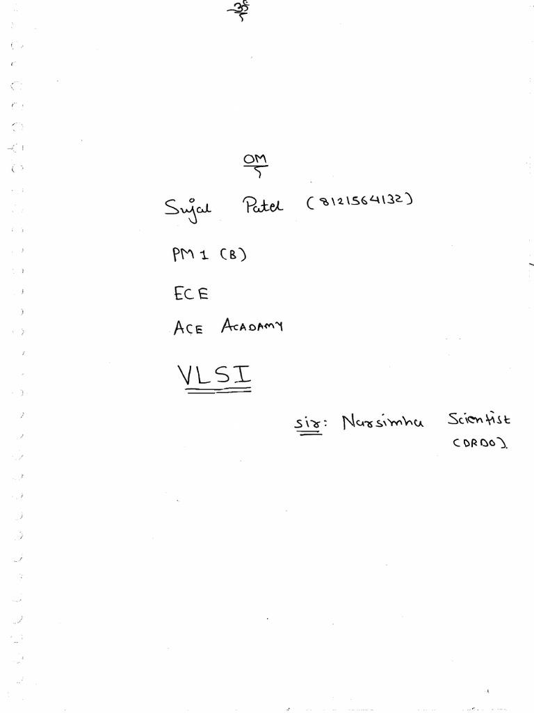 VlSI Gate notes pdf