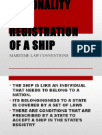 Nationality and Registration of a Ship