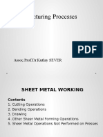 Week 8 Sheet Metal Forming