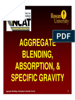 Aggregate blending Absorption Specific Gravity