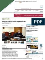 Reforma Tributária Será Implementada Em Três Etapas - 06-03-2017 - Mercado - Folha de S