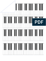 Teclas de Piano Folha