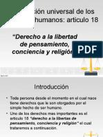 Articulo 18 Derechos Humanos