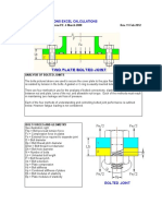 Bolted connexion sheet