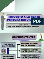 Exposición Renta Persona Natural Ejercicio 2016 Walter Payehuanca Añamuro