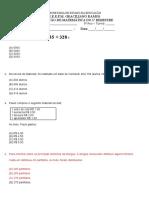 Prova de Matemática 1º Bimestre 5º Ano 2012