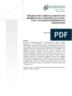 Artigo - Projeto de Gerenciamentod e Rcc-uma Análise Das Propostas Existentes