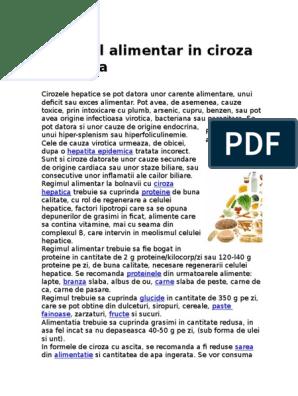 regim pentru ciroza hepatica)
