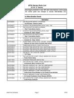 05TA P118 C Series Parts List