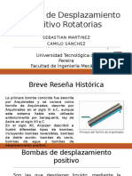 Bombas de Desplazamiento Positivo Rotatorias