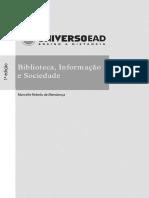 Livro- Biblioteca, Informação e Sociedade
