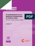 El endeudamiento de los gobiernos subnacionales en América Latina Evolución, institucionalidad y desafíos