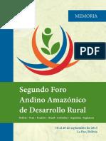 Memoria Foro Andino Amazonico 2013