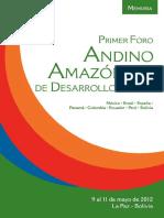 Memoria Foro Amazonico 2012