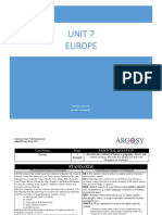 Unit 7 -Europe