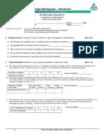 Evaluación Sumativa, Variaciones Proporcionales