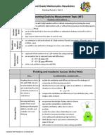 parent newsletter - second grade math mp2 part 2