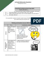 parent newsletter - second grade math mp4 part 2