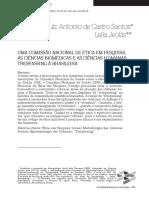 Uma Comissão Nacional de Ética Em Pesquisa - As Ciências Biomédicas e as Ciências Humanas - Tresspassing à Brasileira